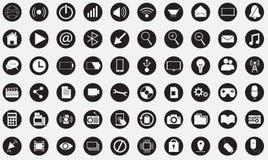 Sistema grande de iconos de la tecnología Fotografía de archivo