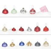 Sistema grande de la chuchería del Año Nuevo de la Navidad Imágenes de archivo libres de regalías