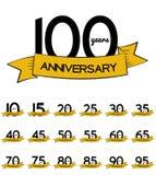 Sistema grande de la colección de la plantilla Logo Anniversary Vector Illustrat Fotos de archivo libres de regalías