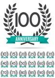 Sistema grande de la colección de la plantilla Logo Anniversary Vector Illustration Imagenes de archivo