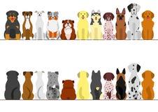 Sistema grande de la frontera de los perros libre illustration