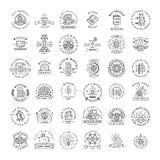 Sistema grande de las plantillas del logotipo de Bitcoin Cryptocurrency libre illustration