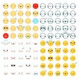 Sistema grande de los Emoticons stock de ilustración