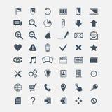 Sistema grande de los iconos básicos del web del vector Fotografía de archivo libre de regalías