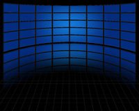 Sistema grande de pantallas ilustración del vector