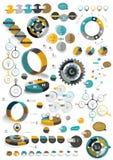 Sistema grande de plantillas infographic redondas Imagenes de archivo