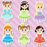 Sistema grande de princesas hermosas Fotografía de archivo