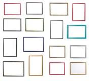 Sistema grande del bastidor para pintar o imagen en el fondo blanco imágenes de archivo libres de regalías