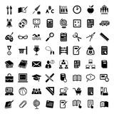 Sistema grande del icono de la escuela Imagenes de archivo