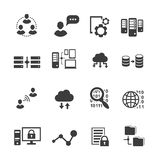 Sistema grande del icono de los datos, analytics de los datos, computación de la nube libre illustration