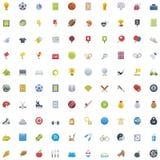 Sistema grande del icono del deporte Imagen de archivo libre de regalías