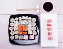 Sistema grande del sushi imagenes de archivo