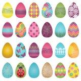 Sistema grande del vector de los huevos de Pascua stock de ilustración