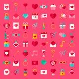 Sistema grande Valentine Day Objects Fotografía de archivo