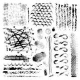 Sistema Handcrafted de la textura fotografía de archivo
