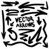 Sistema hecho a mano de la flecha del vector del ejemplo ilustración del vector