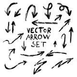 Sistema hecho a mano de la flecha del vector del ejemplo libre illustration