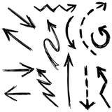 Sistema hecho a mano de la flecha del vector del ejemplo stock de ilustración