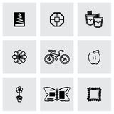 Sistema hecho a mano del icono del vector Fotografía de archivo libre de regalías