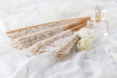 Sistema hermoso de accesorios de la boda del ` s de las mujeres Mañana del ` s de la novia Imágenes de archivo libres de regalías