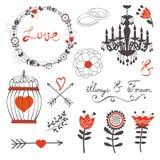 Sistema hermoso del amor Imagen de archivo libre de regalías