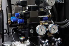 Sistema hidráulico de máquina do cnc Fotografia de Stock