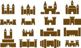 sistema ilustrado de castillos Fotografía de archivo libre de regalías