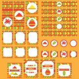 Sistema imprimible del partido de Holi del indio, festival de los elementos de colores libre illustration