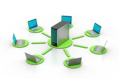 Sistema inalámbrico del establecimiento de una red Imágenes de archivo libres de regalías