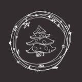 Sistema incompleto de la Navidad EPS 10 Ninguna transparencia Imagenes de archivo