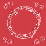 Sistema incompleto de la Navidad EPS 10 Ninguna transparencia Elementos de la Navidad, marco de la Navidad Fotos de archivo