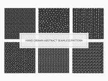 Sistema inconsútil abstracto dibujado mano del modelo Impresión de moda co del vector Fotografía de archivo libre de regalías