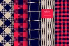 Sistema inconsútil del modelo de la tela escocesa de la guinga libre illustration
