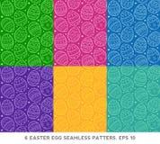 Sistema inconsútil del modelo de los huevos de Pascua Ilustración del vector Fotografía de archivo libre de regalías