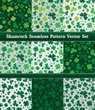 Sistema inconsútil del vector del modelo del trébol de St Patrick Imagenes de archivo
