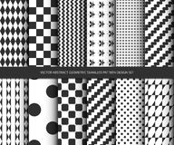 Sistema inconsútil geométrico abstracto del diseño del modelo del vector Fotos de archivo