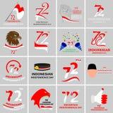 Sistema indonesio del Día de la Independencia Imagen de archivo libre de regalías