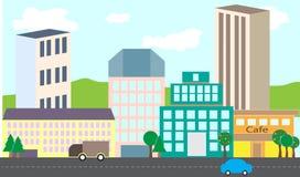 Sistema infographic de la ciudad Fotografía de archivo libre de regalías