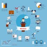 Sistema infographic de las elecciones Foto de archivo libre de regalías