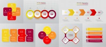 Sistema infographic del círculo del vector Fotos de archivo libres de regalías
