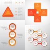 Sistema infographic del círculo del vector Fotos de archivo