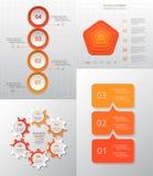 Sistema infographic del círculo del vector Imagenes de archivo