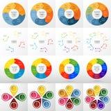 Sistema infographic del círculo del vector Foto de archivo