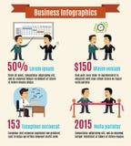 Sistema infographic del negocio libre illustration