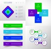 Sistema infographic del vector Imagen de archivo