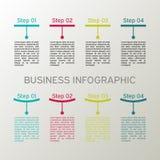 Sistema infographic del vector Diagramas, presentaciones y cartas del negocio Fondo Imagen de archivo