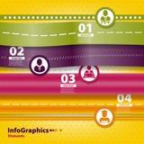 Sistema infographic en trabajo en equipo en negocio Foto de archivo libre de regalías