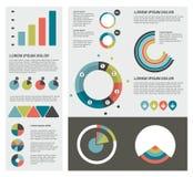 Sistema infographic plano de las cartas, burbujas, diagramas libre illustration