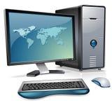 Sistema informático Imagen de archivo libre de regalías