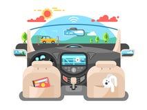 Sistema informático de piloto automático do carro ilustração stock